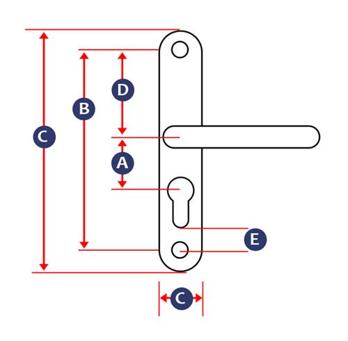 Multipoint Door Handles Measurement Guide