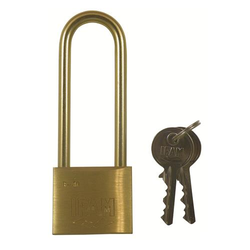 Ifam E Series Brass Padlock with Brass Shackle