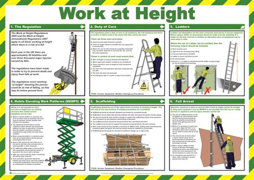 Work At Height A2 Safety Poster
