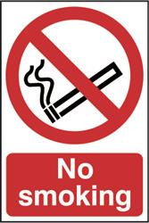 No Smoking Sign - PVC 200mm x 300mm