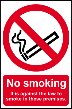No Smoking Workplace Sign - 200mm x 300mm