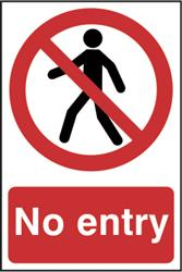 No Entry Sign - 200mm x 300mm