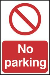 No Parking Sign - 200mm x 300mm