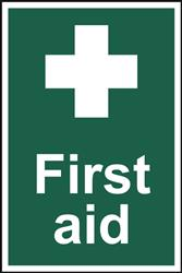 First Aid Sign - 200mm x 300mm