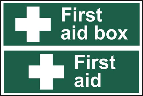 Two First Aid PVC Signs