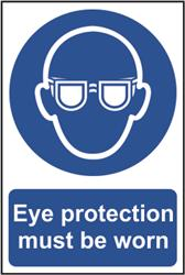Eye protection must be worn - 200mm x 300mm Sign