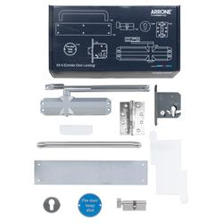 Hoppe Arrone Complete Fire Door Hardware Pack - Locking Corridor - Kit A