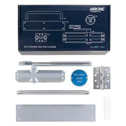 Hoppe Arrone Complete Fire Door Hardware Pack - Non Locking Corridor - Kit C