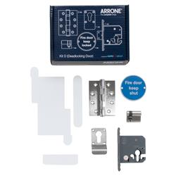 Hoppe Arrone Complete Fire Door Hardware Pack - Deadlocking Door - Kit D