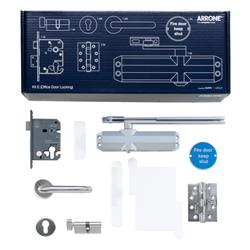 Hoppe Arrone Complete Fire Door Hardware Pack - Locking Office - Kit E