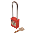 ASEC Safety Lockout Tagout Padlock Long Shackle