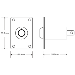 ASEC Electric Key Switch