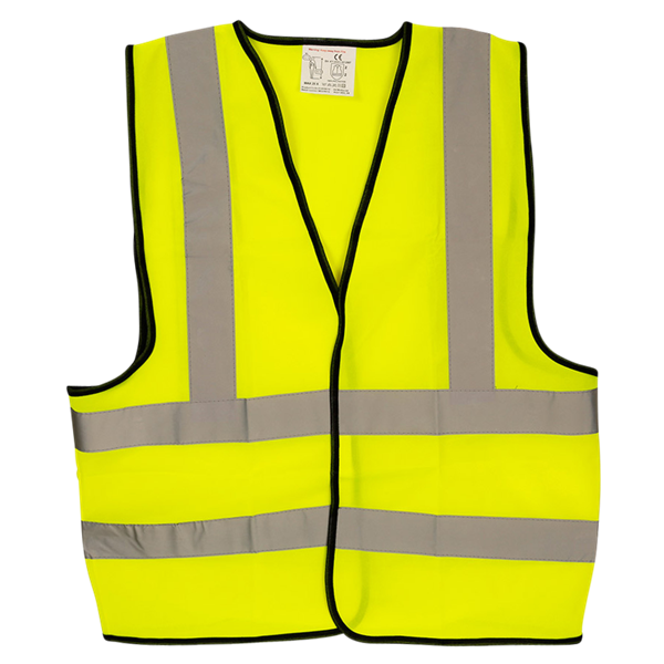 WARRIOR Hi Vis Yellow Safety Vest