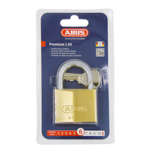 Abus 65 Series 50mm Brass Padlock