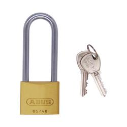 Abus 65 Series Long Shackle 63mm Brass Padlock
