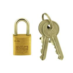 Ifam E Series 15mm Brass Padlock