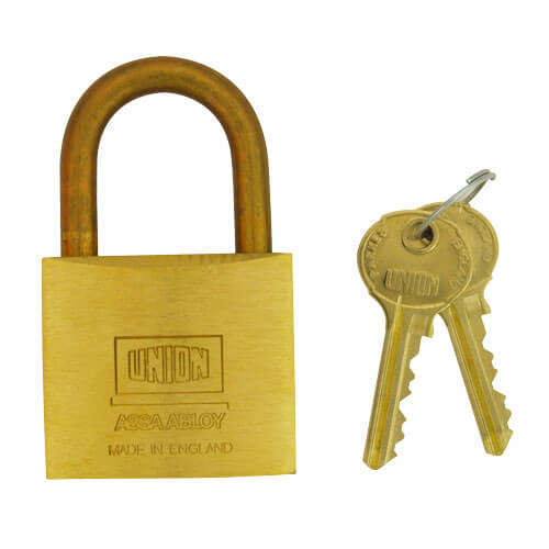 Union 3102 5-Pin 50mm Brass Padlock
