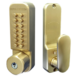 BORG LOCKS BL2701 Cu-Shield ECP Antimicrobial Easicode Pro Digital Lock With Key Override